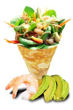 Menu | T-swirl Crêpe Shrimp Avocado, Fresh Avocado, Crespelle Recipe, Pancake Designs, Coffee Shop Business Plan, Tofu Sauce, Crepes Rellenos, How To Cook Pancakes, Japanese Crepes