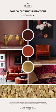 Trend Alert! Here Are The 2018 Color Trends Predictions: Intensity // Interior Design Trends. Pantone Colors. // #colortrends #pantone #trends Read more: https://www.brabbu.com/en/inspiration-and-ideas/materials/trend-alert-2018-color-trends-predictions