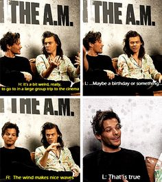 louis making sure harry knows hes being listened to aw