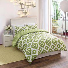 Geo Medallion Bedding Comforter Set, White