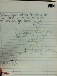 I *like* this kid.