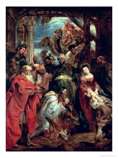 Peter Paul Rubens, Adoration of the Magi, 1624, 18 x 24 Giclee Print. $49.99  AllPosters.com  http://www.allposters.com/-sp/Adoration-of-the-Magi-1624-Posters_i1741534_.htm#