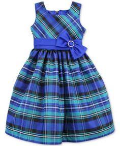 Jayne Copeland Little Girls' Plaid Bow Dress Frocks For Girls, Kids Frocks, Little Dresses, Little Girl Dresses, Cute Dresses, Girls Dresses, Baby Dresses, 50s Dresses, Dress Girl