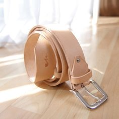 ABBEY leather belt Brazil vegtan leather with solid brass Length: Thick: