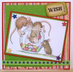 Cute.  House Mouse Stamp.
