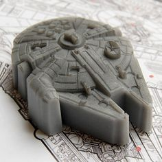 """The Soap Falcon is perfect for a hot shower after making the Kessel Run, washing your way out of sticky situations and great collateral for gambling debts. Note: Not reccomended for smuggling contraband."" YT-1300 Soap by Luxury Lane Soap"