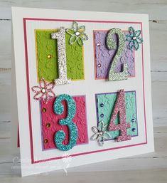 I couldn't bare to part with my retired large numbers dies from Stampin' Up! Here is the card I made for our granddaughter's 4th birthday.