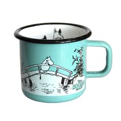 The Moomin shop enamel mug