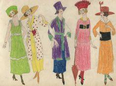 "Elizabeth Stohn Untitled ""Fashion"" Circa 1920 Collection Jim Linderman Dull Tool Dim Bulb"