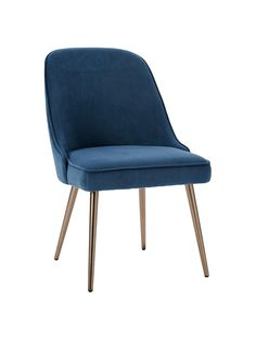 Buy west elm Mid-Century Velvet Dining Chair, Lagoon Blue from our Dining Chairs range at John Lewis & Partners. West Elm Dining Chairs, Blue Velvet Dining Chairs, Fabric Dining Chairs, Mid Century Dining Chairs, Mid Century Chair, Metal Chairs, Upholstered Dining Chairs, Mid Century Furniture, Room Chairs