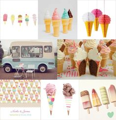 Fun Ice Cream Parlour Inspired #Wedding Theme Mood Board from The Wedding Community
