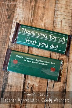 Teacher Appreciation Day Candy Bar Wrapper Printable - My Sweet Sanity