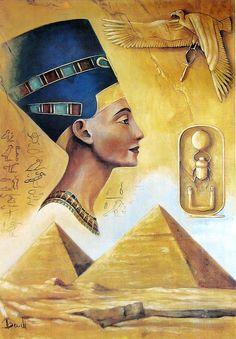 Nefertiti - Egyptian Queen (Reprint on Paper - Unframed))
