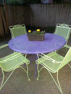 Patio Furniture Makeover. Not These Colors, But I Like The Idea. Idea