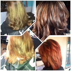 Box color BEFORES/WELLA Professional Color AFTERS. Protect your investment and love your reflection. In order to maintain your look at home after a professional color service always be sure to use a shampoo and conditioner recommended by your professional colorist. Btw... You would never know these elegant Bellas are in their late 50's & 60's!