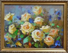 Hey, I found this really awesome Etsy listing at https://www.etsy.com/listing/247716125/roses-painting-yellow-white-roses