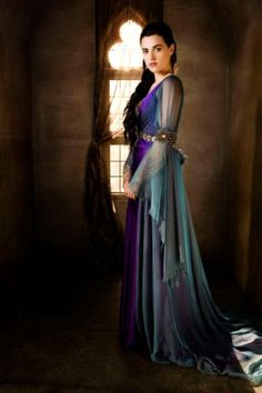 Morgana from Merlin - she has the most amazing dresses in that show. Even though I HATE her character. LOL