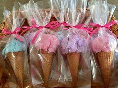 Cotton Candy Ice Cream Cones - Debbi - Beyond Binary Cotton Candy Favors, Cotton Candy Cone, Cotton Candy Party, Pink Cotton Candy, Ice Cream Theme, Ice Cream Candy, Ice Candy, Birthday Party Favors, Birthday Ideas