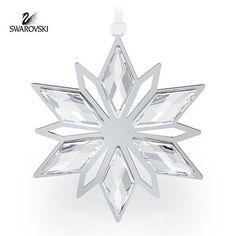 Swarovski Clear Crystal Christmas Ornament SILVER STAR #5064261 New