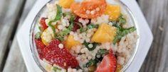 Israeli Couscous Fruit Salad with Basil