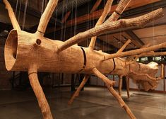 Seattle-based artist John Grade has created Middle Fork, a tree sculpture that has been made up of hundreds of thousands of individual wood pieces