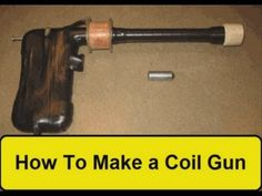 Coil gun with parts pulled from an electric stapler