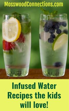 Infused Water Recipes the Kids will Love