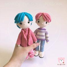 Crochet Doll Pattern, Crochet Patterns Amigurumi, Amigurumi Doll, Crochet Dolls, Kawaii Crochet, Cute Crochet, Pattern Cute, Crochet Case, Unicorn Doll