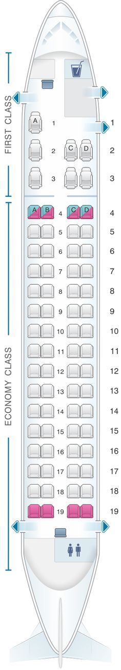 Seat Map Island Air Bombardier Q400 With Images Seating Best Airplane Map