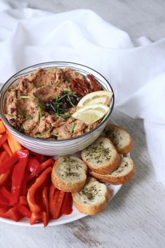 White bean sun dried tomato dip from Pick up Limes