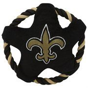 New Orleans Saints Flying Rope Disk Dog Toy - Black #NFL #NFLDogProducts #NFLPetProducts #DogProducts #PetProducts #NewOrleansSaints #NewOrleansSaintsDogs #NewOrleansSaintsPets #Saints #Animals #Dogs #Pets #AdorabullBulldogs #PawsativeParents