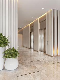 Lobby Interior, Office Interior Design, Interior Architecture, Design Offices, Modern Offices, W Hotel, Floor Design, Ceiling Design, Design Hall Entrada