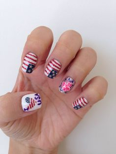 Mani Monday: I Love the USA Nail Art | Salon Fanatic