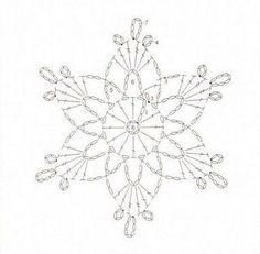 Risultati immagini per crochet snowflake chart
