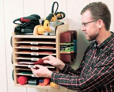 If you've got a box full of mismatched abrasives like I had, here's how to build this easy organizer for your shop.