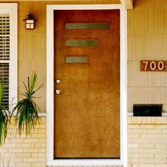 1000 images about mid century front doors on pinterest for Mid century modern door casing