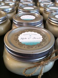 Wedding favor candle 100 Soy candle 8 oz by Samssoycandles on Etsy, $9.00