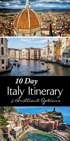 10 days in Italy Itinerary: 3 Italy Itineraries including Venice Rome Florence Cinque Terre Amalfi Coast Verona Dolomites Tuscany and San Marino Travel Vacation List Holiday Tour Trip Destinations Cinque Terre, Italy Honeymoon, Italy Vacation, Italy Trip, Italy Italy, Amalfi Italy, Verona Italy, Tuscany Italy, Venice Italy