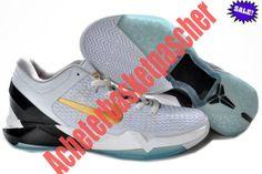 OVOD L'Or Blanc Chaussure Basketball Nike Zoom Kobe VII System ELITE Basketball Kobe bryant Homme 2014 67171