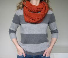 Gratis patroon voor sjaalkraag in Malabrigo Chunky  - Northern Loop pattern by tante ehm. malabrigo Chunky. Wol te koop bij www.wolwereld.be