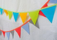 Reversible Reusable Wool Felt Birthday Banner. $24.00, via Etsy.