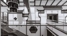 """Grand staircase & wall details--Chinese hotel and lakeside """"experience"""" center.  1436351747219249.jpg"""