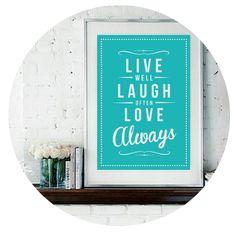 'Live Laugh Love' Fine Art Print – Rock The Custard