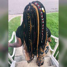 Hair Ponytail Styles, Weave Ponytail Hairstyles, Black Girl Braided Hairstyles, Pretty Hairstyles, Protective Hairstyles, Braids For Black Women, Braids For Black Hair, Twist Braids, Twists