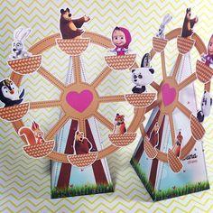 E continuando de Masha. Caixa Cone Tema: Masha e o Urso  designer.cherry@yahoo.com.br  Enviamos ...
