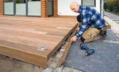Holzterrasse – Dielen verlegen: Schritt 22 von 23