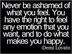Never!!!  Be happy.