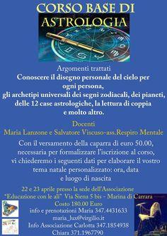 Corso Astrologia 22/23 Aprile con ben 2 Astrologi!