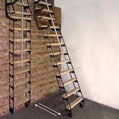 Escalier escamotable mezzanine