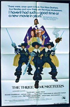 THREE MUSKETEERS 1973 Movie Poster 27x41 RICHARD CHAMBERLAIN #MoviePoster